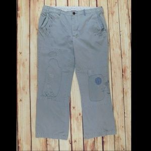 Polo Ralph Lauren Gray Distressed Rare Chino Pants